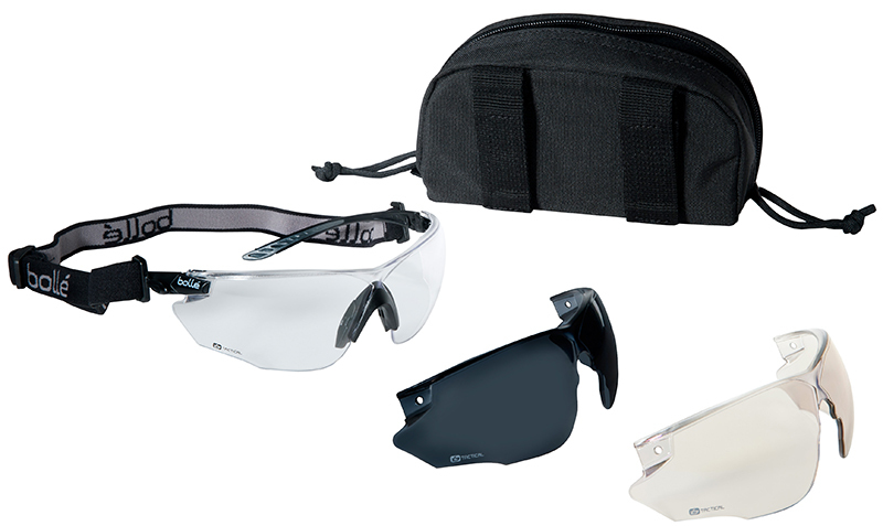 Combat Ballistic Glasses - 3 Lens Set Black