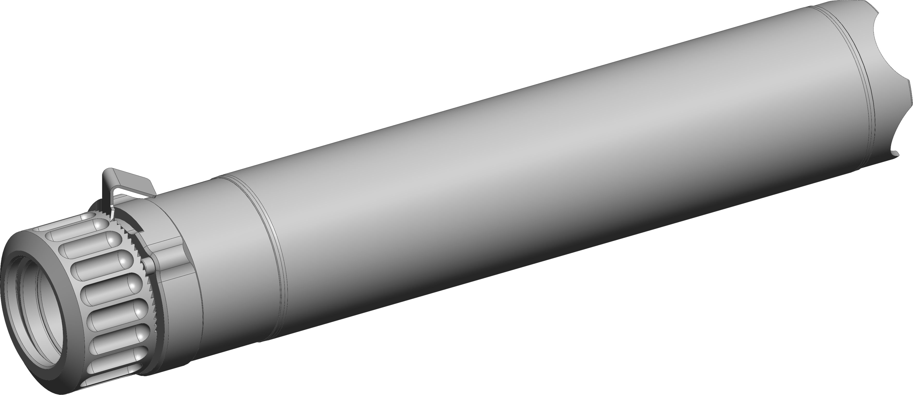 .223 Rem Rotex-IIA rifle suppressor