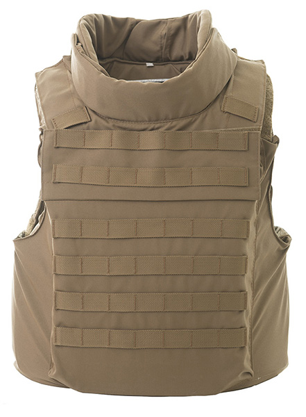 Level 3A Soft body armour + Level 4 plates (x2) Full protection vest